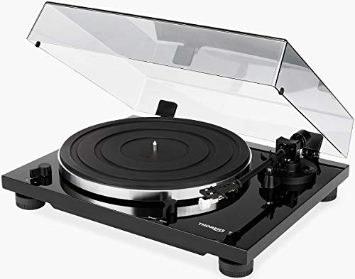 THORENS TD 201 Turntable with at 3600 Cartridge (Gloss Black)