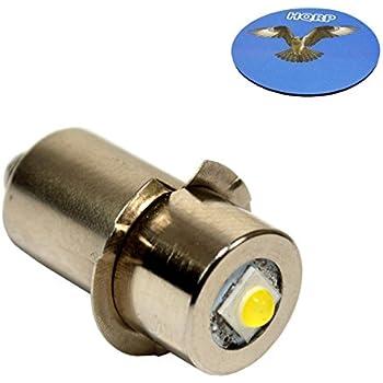 HQRP High Power Upgrade Bulb 3W LED 100LM 7-30V for Dewalt: DW908 / DW919 / DW906 / DW918 / DW904 / DW902 / DW904 / DW9043 / DW9083 / DW9063 / DW9023 plus HQRP Coaster