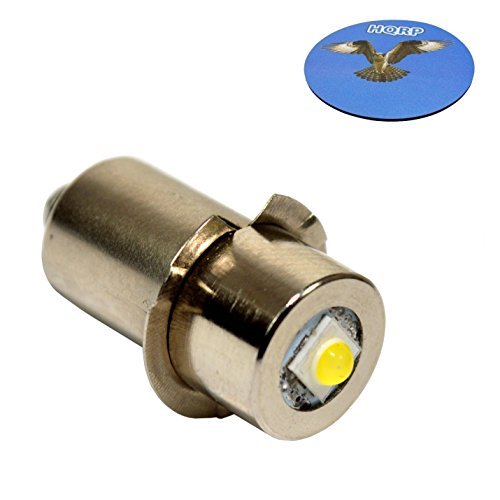 100lm Led - HQRP High Power Upgrade Bulb 3W LED 100LM 7-30V for Dewalt: DW908 / DW919 / DW906 / DW918 / DW904 / DW902 / DW904 / DW9043 / DW9083 / DW9063 / DW9023 plus HQRP Coaster