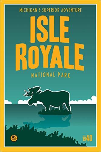 Isle Royale, Lake Superior Michigan Metal Art Print by Matt Brass (24