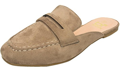 Women's Backless Slip On Mule Loafer