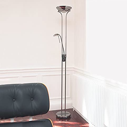Endon rome mother child floor lamp finished in polished chrome endon rome mother child floor lamp finished in polished chrome mozeypictures Images