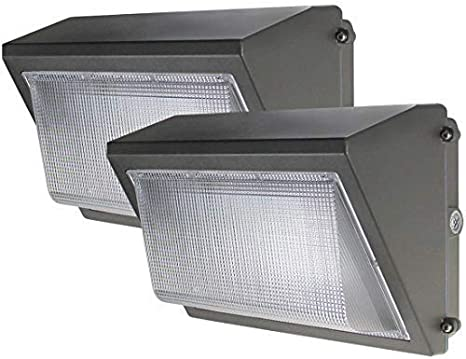 Industrial Light Fixture LED Wall Pack 80W 60W Commercial Photocell Optional