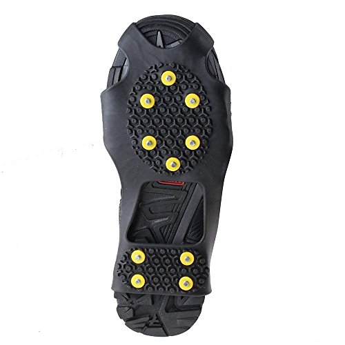 KISPAHN Anti-Slip Overshoes Ice Snow Traction Universal Shoe Covers Spike Snow Shoes Crampons Cleats - M by KISPAHN