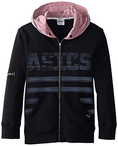 ASICS Big Boys' Long Sleeve Travel Hoodie Jacket, Performance Black, Medium
