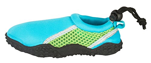 Shocked Toddler Neoprene and Mesh Water Beach Shoe Size 11-12 Turquoise/Green/Gray by Shocked (Image #2)