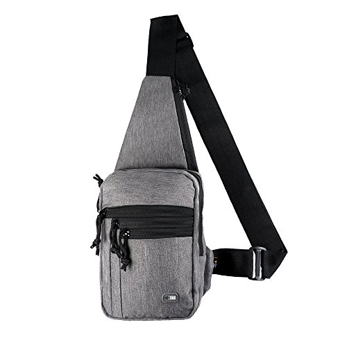 М-Tac Tactical Bag Shoulder Chest Pack with Sling for Concealed Carry of Handgun (Grey Melange)