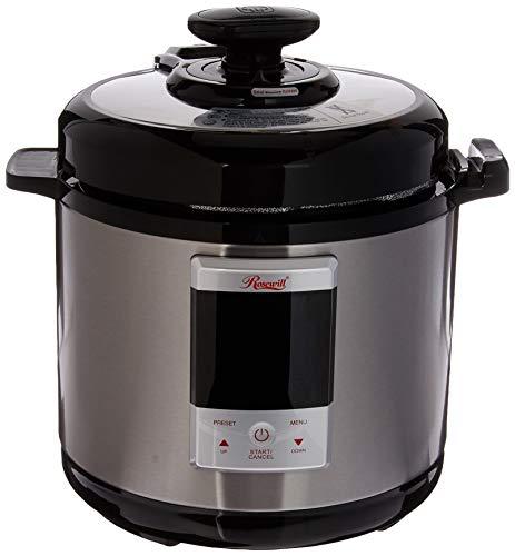 Rosewill Programmable Pressure Cooker 6Qt, 8-in-1 Instapot Multi Cooker: Rice Cooker, Slow Cooker Pressure Cooker, Vegetable Steamer, Deep Fryer, Sauté/Browning, Yogurt Maker, Warmer, HotPot