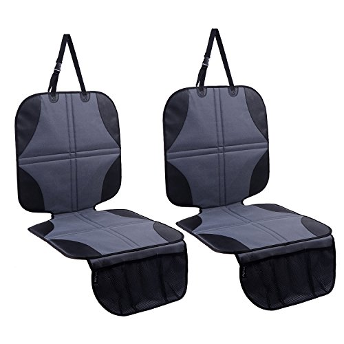 Ohuhu 2-Pack Baby Child Car Auto Carseat Seat Protector Cover Dog Mat Vehicle Cover with Organizer