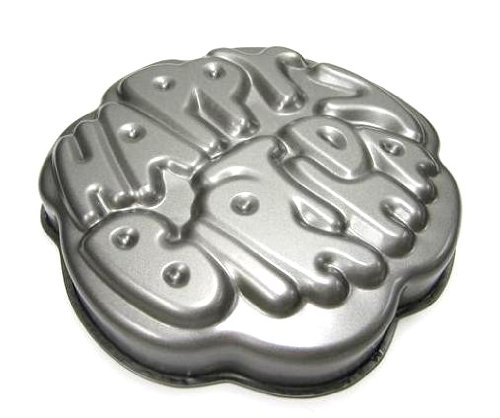 Amazon Chloes Kitchen 203 184 Non Stick Happy Birthday Cake Pan Dark Grey Baking Molds Dining