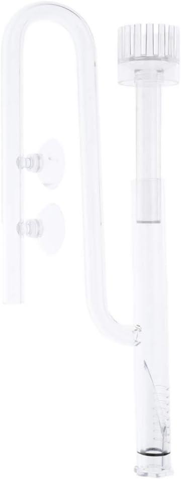 B Blesiya Conjunto de Skimmer de Superficie de Pel/ícula de Aceite de Entrada de Tubo de Vidrio para Tanque Plantado de Acuario /Φ13