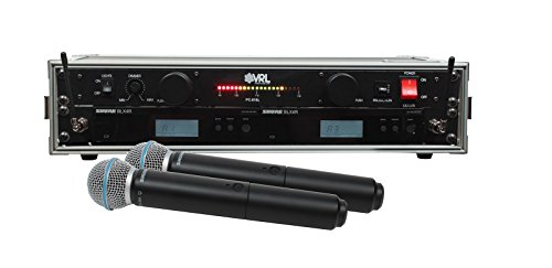 Shure BLX24R/B58 2 Pack Wireless Handheld Mic System with VRL Power Supply ()