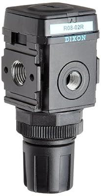 "Dixon R08-02R Wilkerson Miniature Regulator without Gauge, 1/4"" Size, 44 SCFM Flow, 300 psig Pressure"