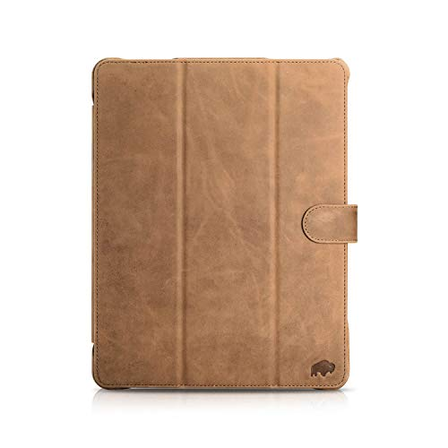Burkley Case Premium Full Grain Leather Turner Smart Leather Folio Cover with Magnetic Flap Compatible with Apple iPad Pro 11