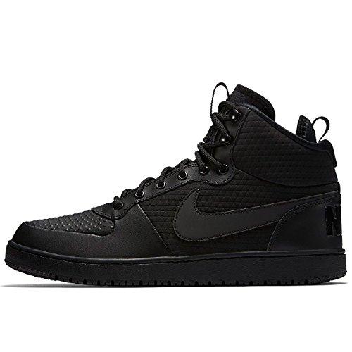 Nike Court Borough Mid Winter Men's Waterproof Basketball Shoes (12 D(M) US, Black)