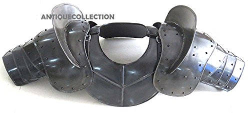 ANTIQUECOLLECTION Medieval Dark Steel Warrior Gorget Neck Armor