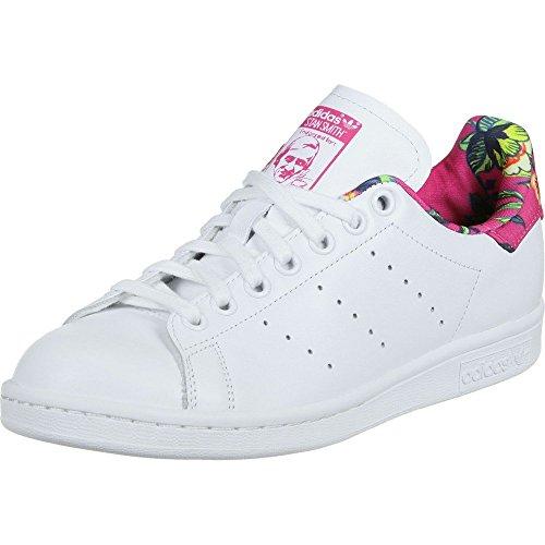 Adidas bianche stan smith (bianco / calzature bianche Adidas / ray rosa) dimensioni 1042ad
