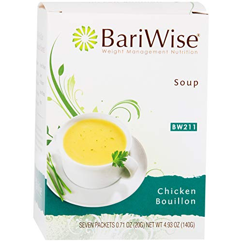 BariWise High Protein Low-Carb Diet Soup Mix - Low Calorie, Fat Free (Chicken Bouillon, 1 Box - 7 count)