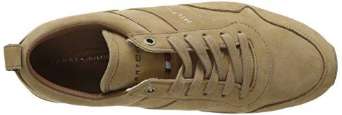 Tommy Hilfiger Iconic Nubuck Leather Runner, Scarpe da Ginnastica Basse Uomo Beige (Sand 102)