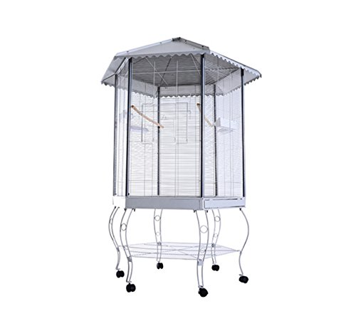 Parrot Bird Cage Macaw Aviary Cockatoo Finch Parakeet Pet Supplies Stand (Plastic Coated Wire Muzzle)