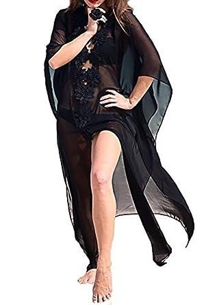 cfd6059a9098b Bestyou Women's Bikini Swimsuit Cover Up Dress Sheer Chiffon Kimono  Cardigan Bathing Suit Tunic Beachwear Swimwear
