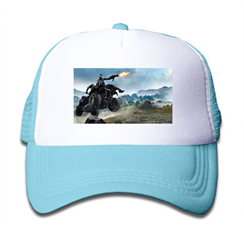 KAIFENG Call of Duty Black Ops 4 Blackout Fashion Peak Cap for Children Sky Blue