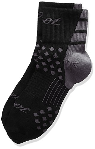 Zoot Sports Tt Quarter Sock, Black/Graphite, - Triathlete Gomez