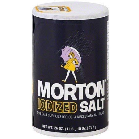 Morton Iodized Salt, 26 oz (Pack of 24)