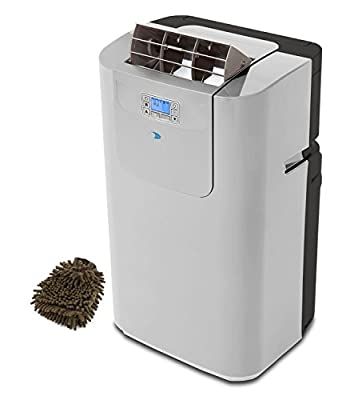 ARC-122DHP Whynter Elite Portable Air Conditioner, 12000 BTU Dual Hose Digital with Heat and Drain Pump (Complete Set) w/ Bonus: Premium Microfiber Cleaner Bundle
