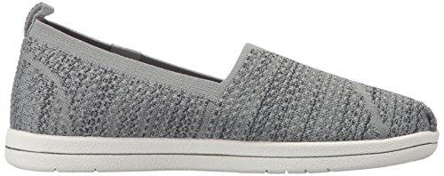 Skechers Bobs Womens Super Plush-Long Stretch Flat Gray Charcoal