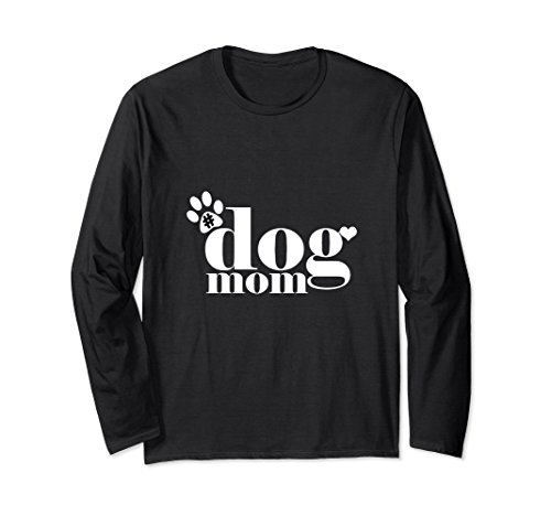 Dog Lover Long Sleeve (Unisex Dog Mom Cute Dogs Pet Lover Dog Life Long Sleeve T-shirt Large Black)