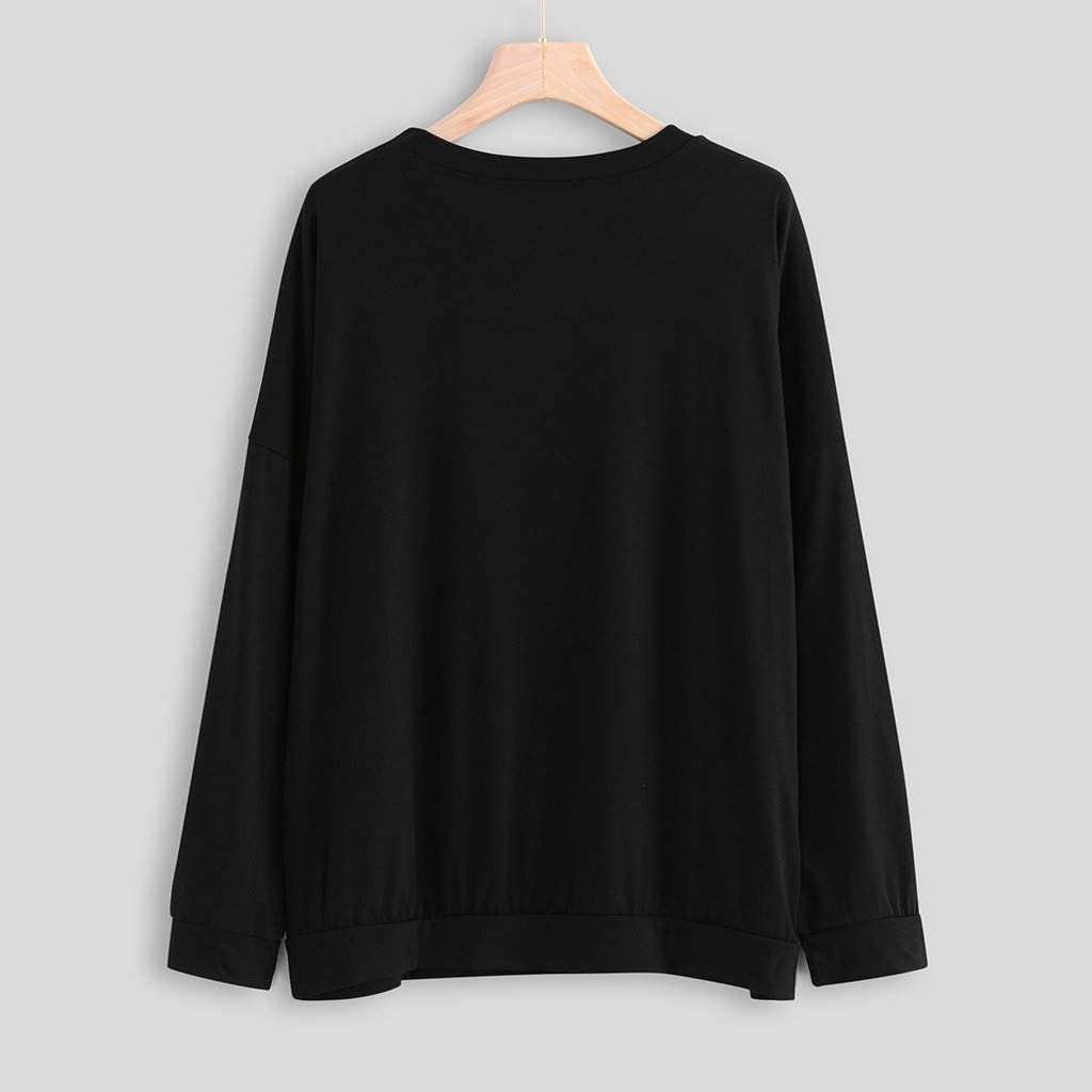 Chaofanjiancai Women Be Kind T Shirts Casual Long Sleeve Crew Neck Graphic Sweatshirt Cute Pullover Tops with Pockets
