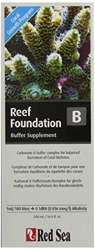 - Red Sea Fish Pharm ARE22023 Reef Foundation Buffer Supplement-B for Aquarium, 500ml, Package may vary