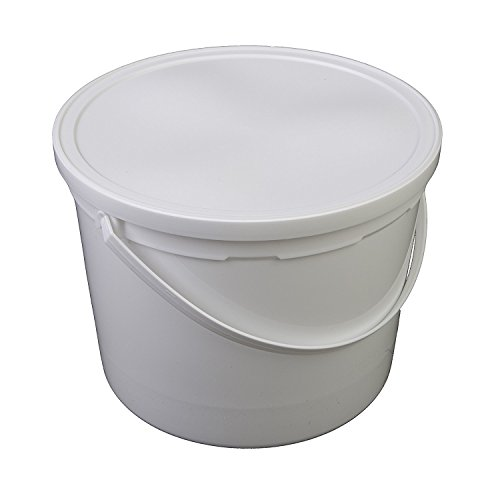 (Consolidated Plastics 42586 Pail With Handle, HDPE, 5 quart, White, 10 Piece)