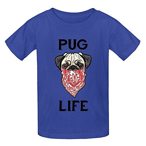 Snowl Pug Life Forever Unisex Crew Neck Personalized T-shirt (Team Colors Personalized Invitations)
