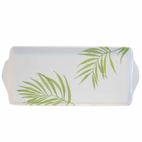 (Corelle Coordinates by Reston Lloyd Melamine Tidbit Serving Tray, Bamboo Leaf)