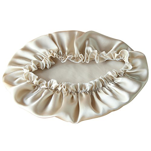 100% Natural Silk Sleep Cap for Women, EASILK Night Caps Bonnet for Hair Beauty (Adults,Beige) (Adults, Beige)