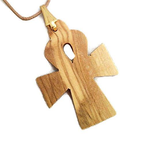 Egyptian Cross Ankh Olive Wood Pendant HJW