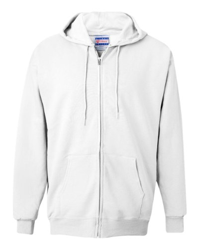 (Hanes 9.7 oz. Ultimate Cotton 90/10 Full-Zip Hood 3XL WHITE )
