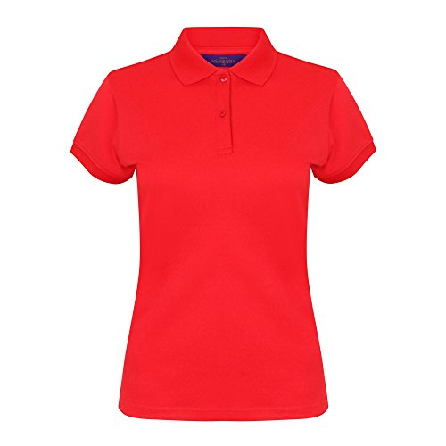 Henbury - Polo Con Sistema Coolplus® - Donna (S) (Rosso)