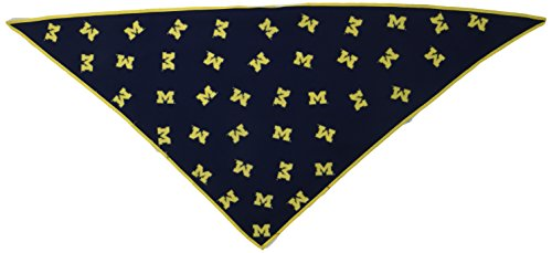 Collegiate Michigan Wolverines Pet Bandana, Medium/Large  - New Design - Dog Bandana must-have for Birthdays, Parties, Sports Games etc.. Michigan Dog Pet Varsity Jacket