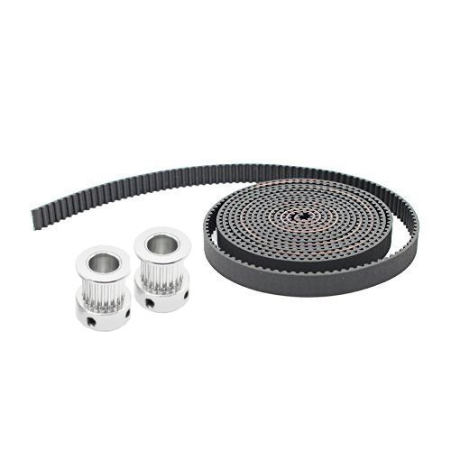 5M GT2 10mm Timing Belt and 2pcs 2GT Timing Pulley 20 Teeth 6.35mm Bore 10mm Width CTC 3D Printer Part