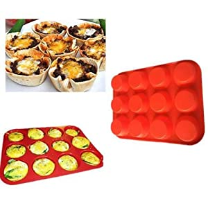 1 piece 12 Cup Non Stick Silicone Muffin Pan Bakeware Cupcake Baking Pan Cookie Tray