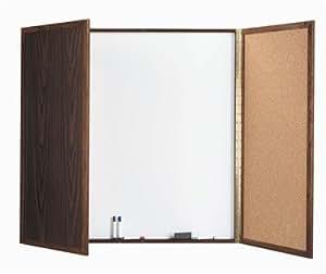 Amazon.com : Cabinet Enclosed Whiteboard Frame Finish: Cherry, Size: 3