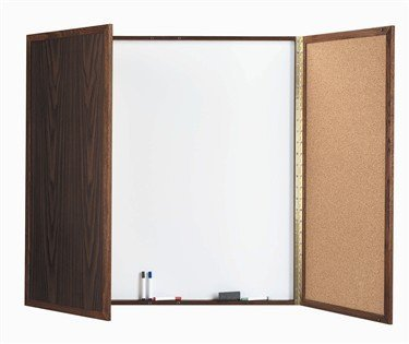 Incroyable Cabinet Enclosed Whiteboard Frame Finish: Cherry, ...