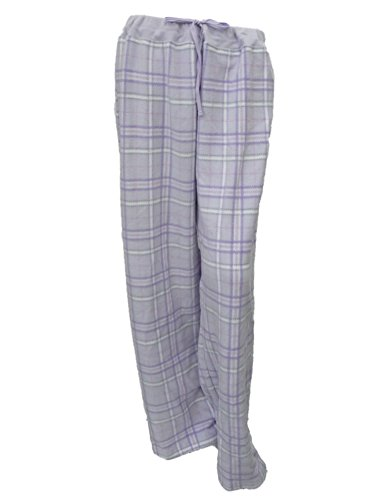 Soft Sensations Women Purple Gray Plaid Fleece Sleep Pants PJs Pajama  Bottoms L f6cfb6971