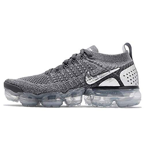 f378e895fc9f2 Amazon.com | Nike Women's WMNS Air Vapormax Flyknit, Wolf Grey/Black-Bright  Crimson | Road Running
