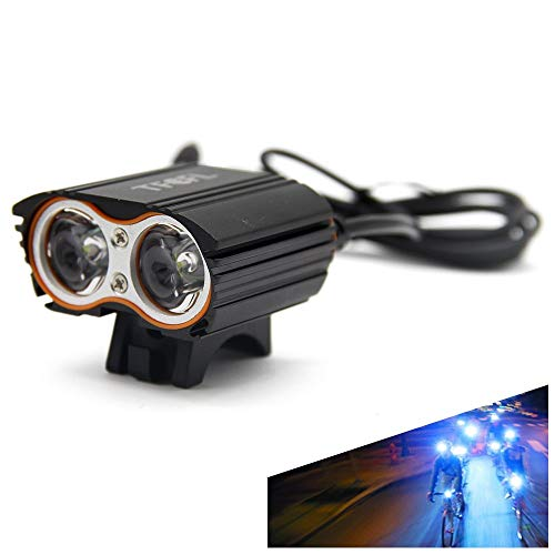 D Bike Front Light Waterproof Rechargeable Super Bright Cycling Bike Light Bicycle Double Lights Headlight ()
