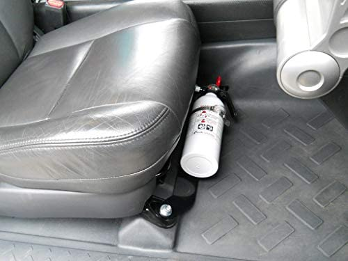 Refined Cycle /& Off-Road FM4-2.5 Front Seat Fire Extinguisher Mount for Land Cruiser FJ80 /& Lexus LX450