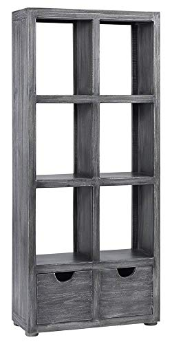 (Progressive Furniture Bookcase in Brushed Gray Finish)